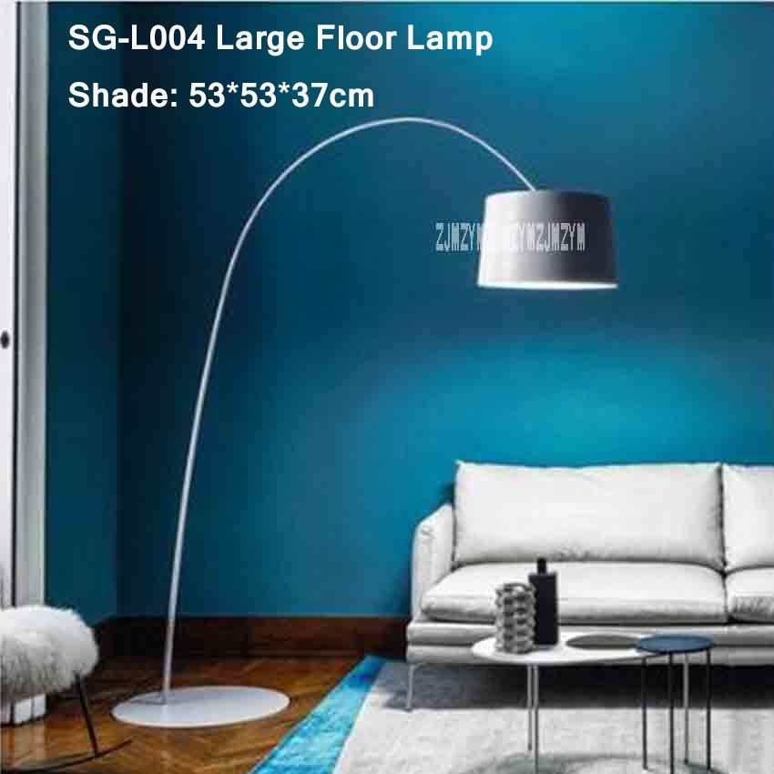 110 v/220 v Nordic Moderne Boden Lampe Kreative Standing LED Dekoration Lichter Wohnzimmer Schlafzimmer Klapp Dreh Arc angeln Lampen