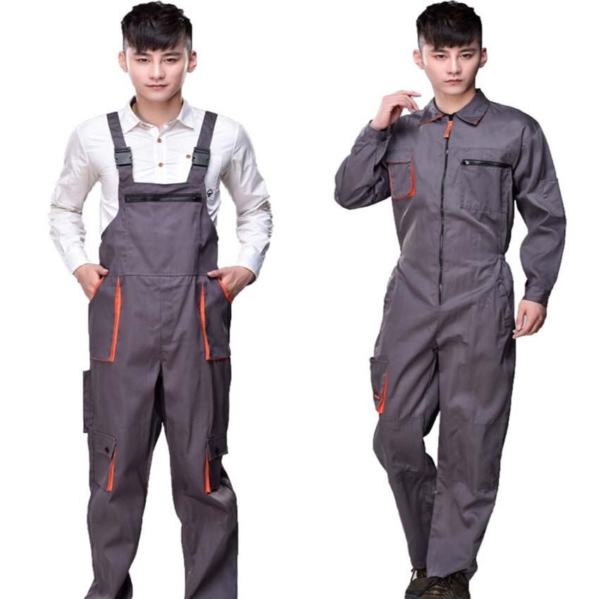 Salopette de travail hommes femmes combinaison de protection réparateur sangle combinaisons pantalons uniformes de travail combinaison sans manches de grande taille