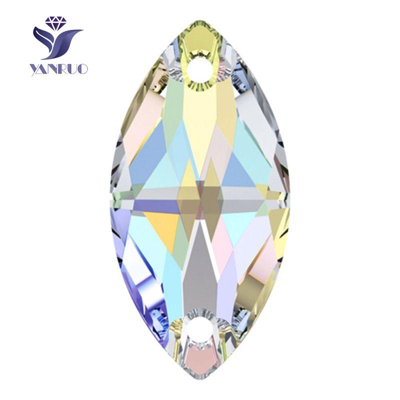 3223 Navette 6x12 7x15 9x18mm cristal AB coudre sur Strass pierres et cristaux couture Strass pierre coudre robe pour vêtements