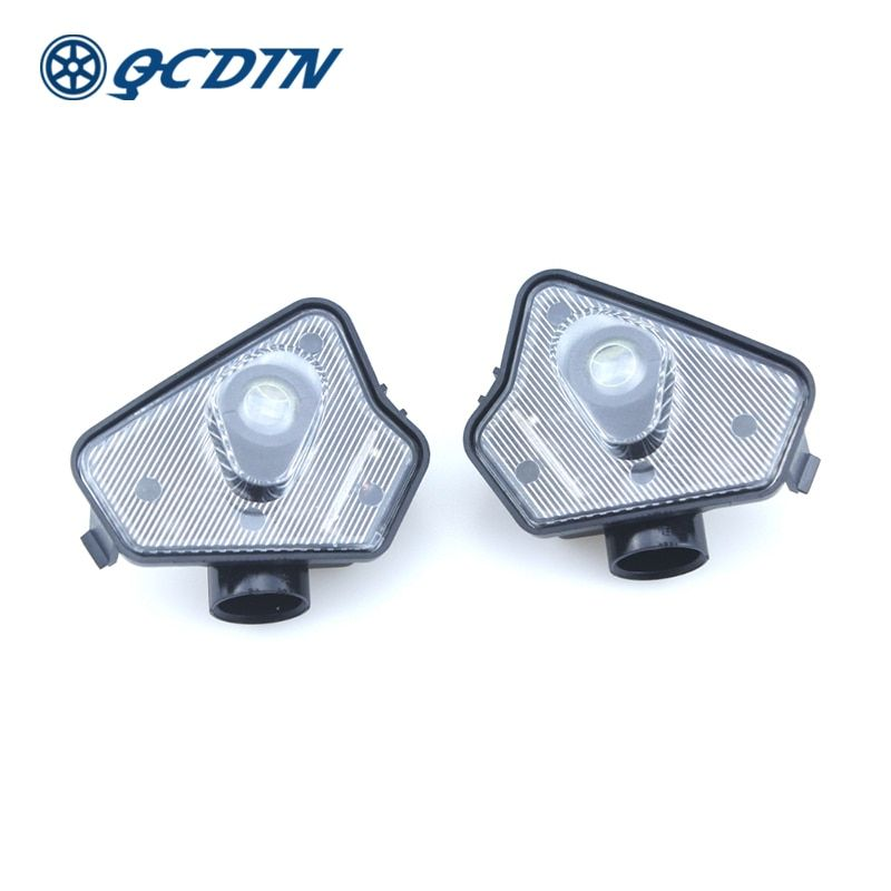 QCDIN For Mercedes Benz LED Car Side Tow Mirror Puddle Logo Light Rearview Mirror Projector Lamp for Benz Multi-series Model