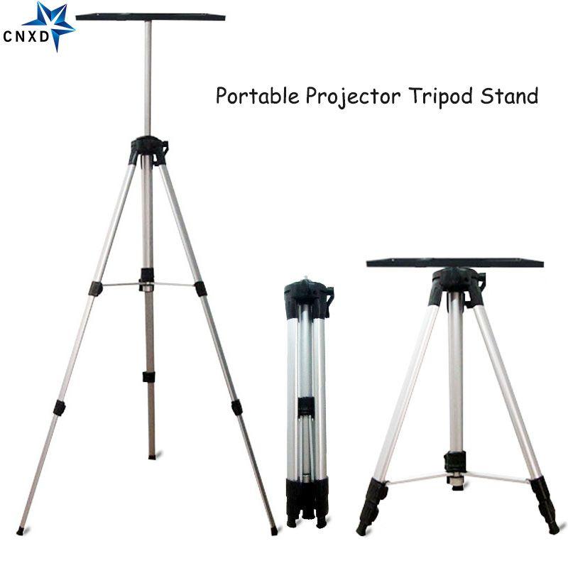 50-140 cm Portable projecteur trépied support de montage ordinateur Portable support de sol avec plateau lecteur DVD titulaire hauteur ajuster support de projecteur