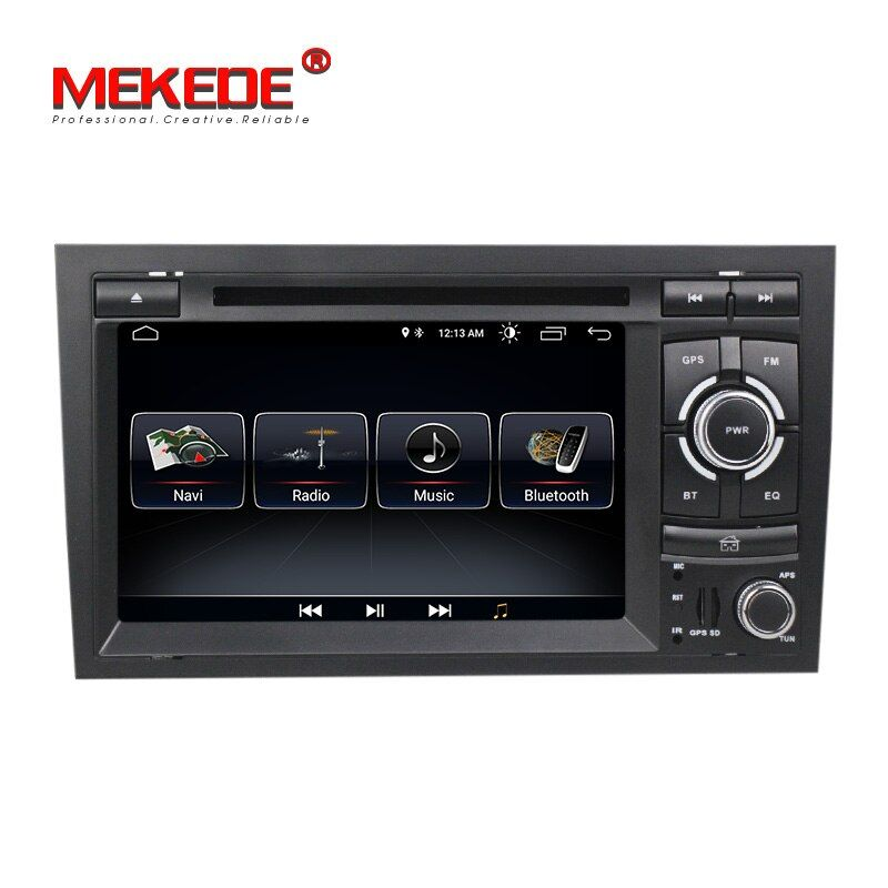 New arrival! Android 8.0 quad core car radio multimedia player for Audi A4 S4 RS4 2002-2008 with dvd gps navigation free ship
