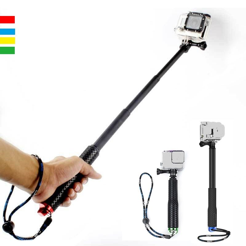 Haute qualité Portable Extensible Poche Monopode Étanche Selfie Bâton pour Gopro hero 3 3 + 4 5 Sjcam3000/4000 xiaoyi
