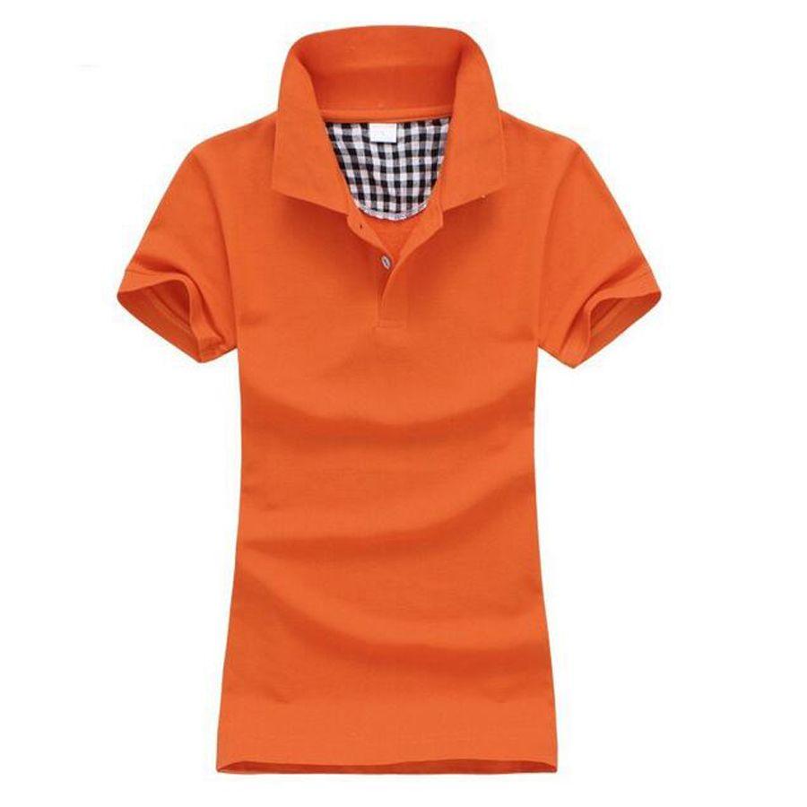 Free shipping NEW summer Women's Polo Shirts short Sleeve Cotton Fashion Style Women Slim polo Shirt Formal 7Colors  21