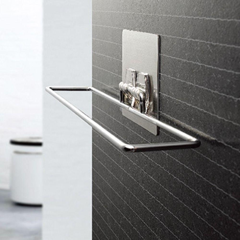 2017 diseño creativo metal cromado home vacío seamless ventosa toallero baño toallero toalla colgando de rack
