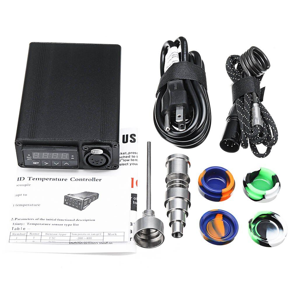 Electric Titanium Alloy E-Nail Box Kit Temperature Control Heater Aromatherapy Oil 16/20mm UK/EU/AU/US Plug E2S