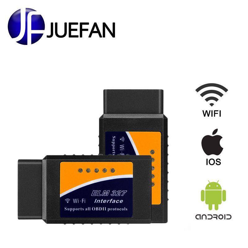HOT! OBD V2.1 ELM327 OBD2 WIFI Auto Scanner OBDII 2 Car ELM 327 WIFI Tester Diagnostic Tool for Android Windows