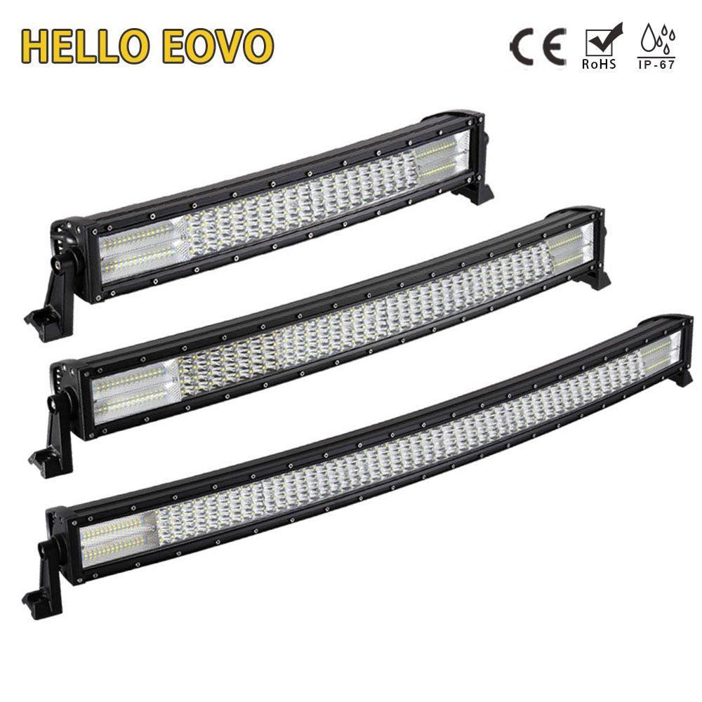HELLO EOVO 22 / 32 / 42 inch LED Bar Curved LED Light Bar for Driving Offroad Car Tractor Truck 4x4 SUV ATV 12V 24V