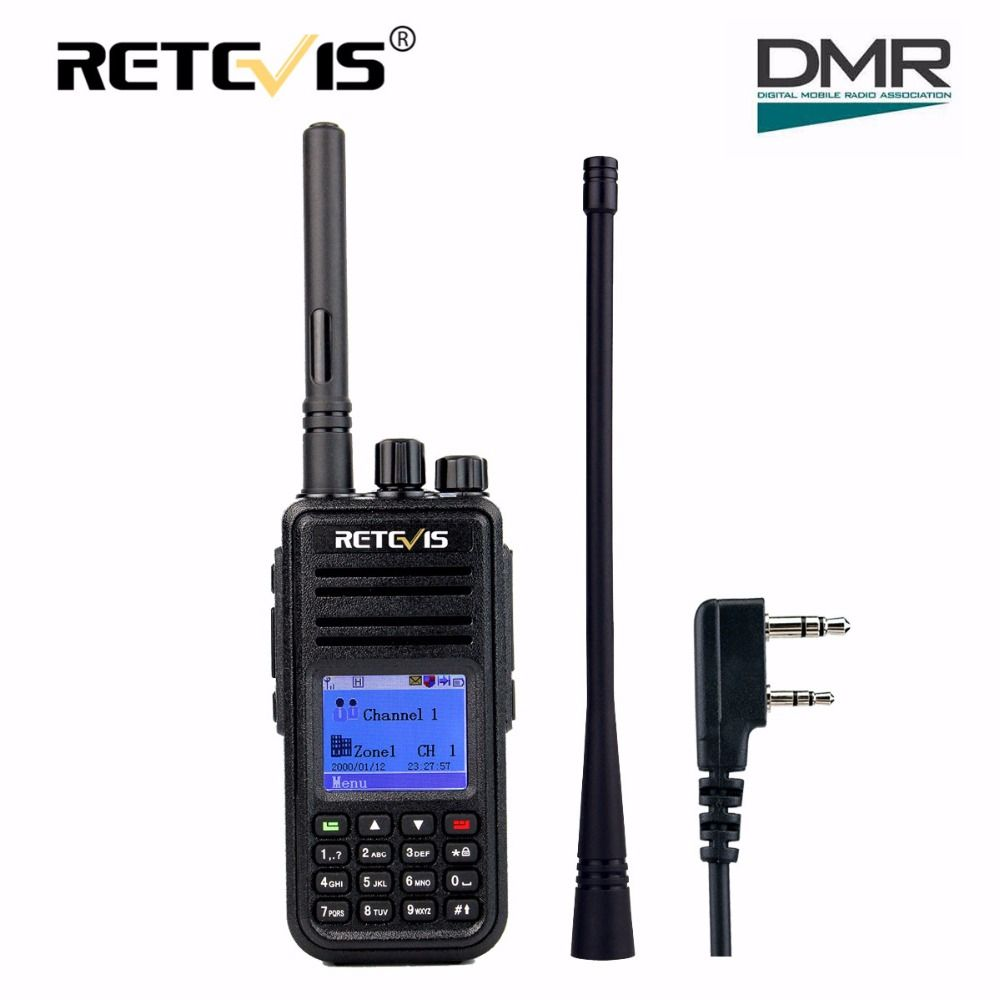 DMR Digital Radio (GPS) Walkie Talkie Retevis RT3 UHF (or VHF) 5W Encryption 2 Way Radio Amador Hf Transceiver Ham Radio Station