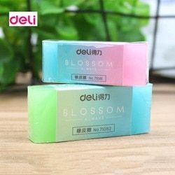 Deli Most Professional Soft Durable Flexible Cube Cute Kawaii Chancery Jelly Colored Pencil Rubber Erasers for School Kids