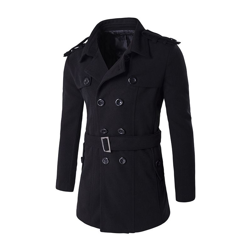 Marke Wintermantel Männer 2017 Neue Ankunft Zweireiher Pea mantel Mann Casual Slim Fit Mantel Männer Stilvolle Design Manteau Homme