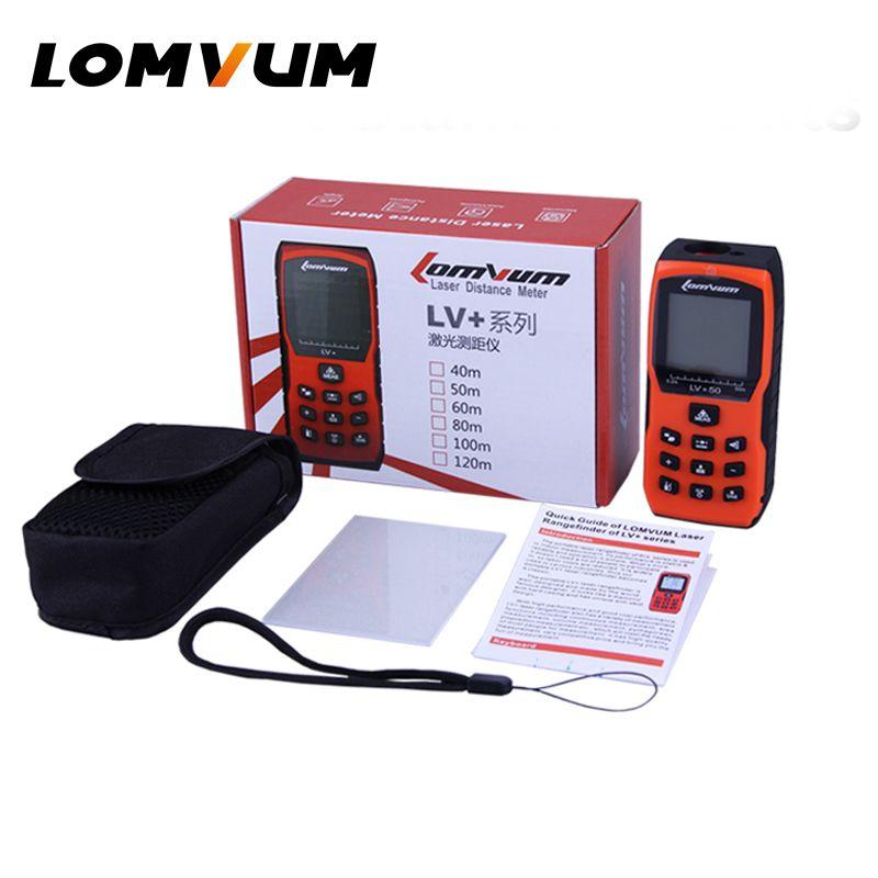 LOMVUM Laser Rangefinders Orange Distance Measurer Meter Handheld Digital Laser Distance Meter Electronic Bubbles