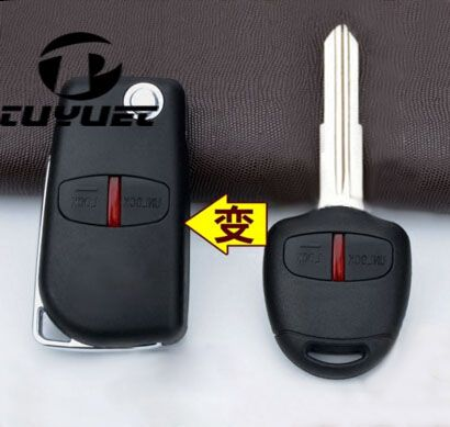 2 Buttons Blank Modified Flip Folding Remote Key Shell Case for Mitsubishi New ASX GRANDIS Outlander LANCER-EX Right Key Blade