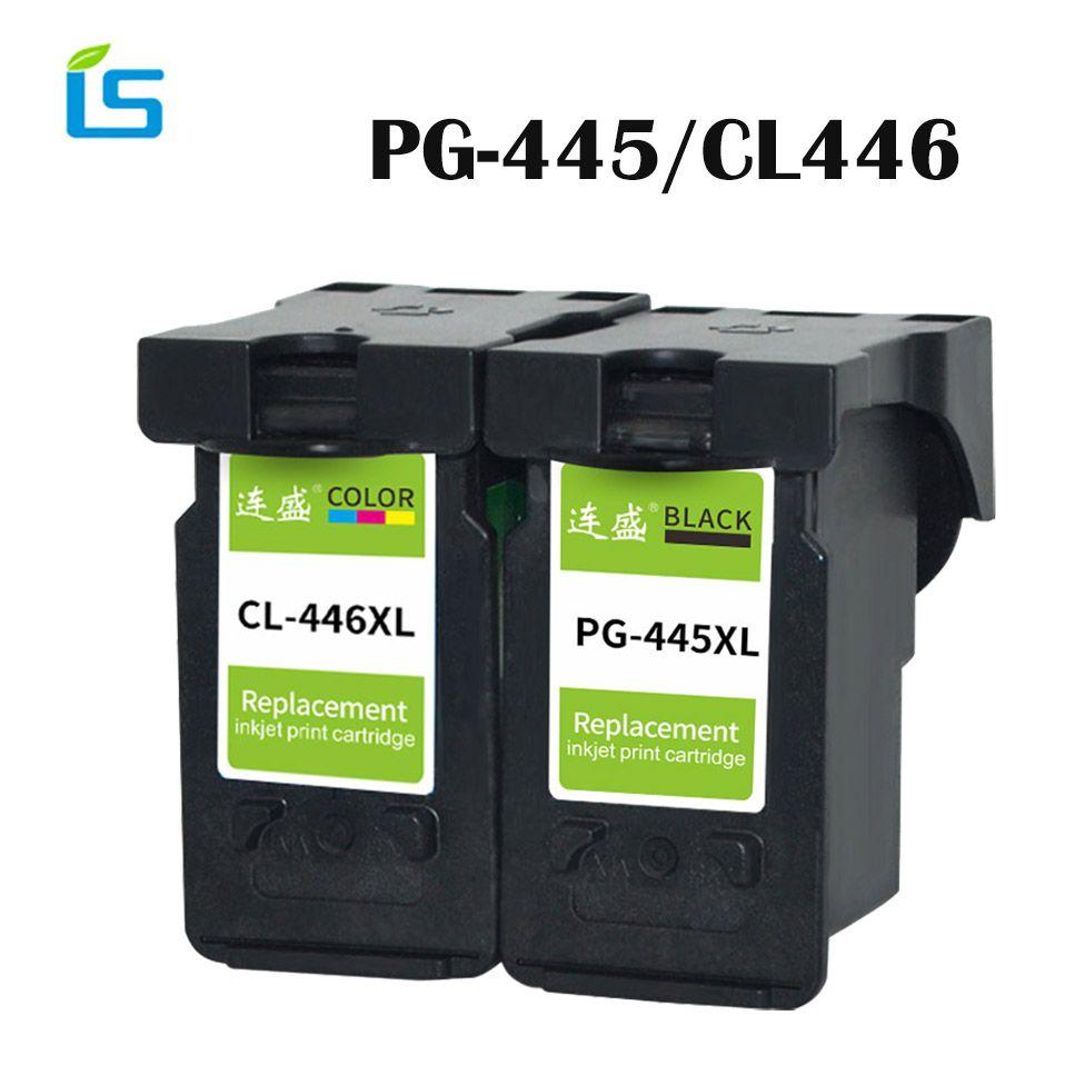 2 Pcs/ensemble Imprimante Cartouche D'encre PG-445XL PG445 CL-446 XL cartouche D'encre pour Canon PG 445 CL 446 compatible pour Canon PIXMA imprimante