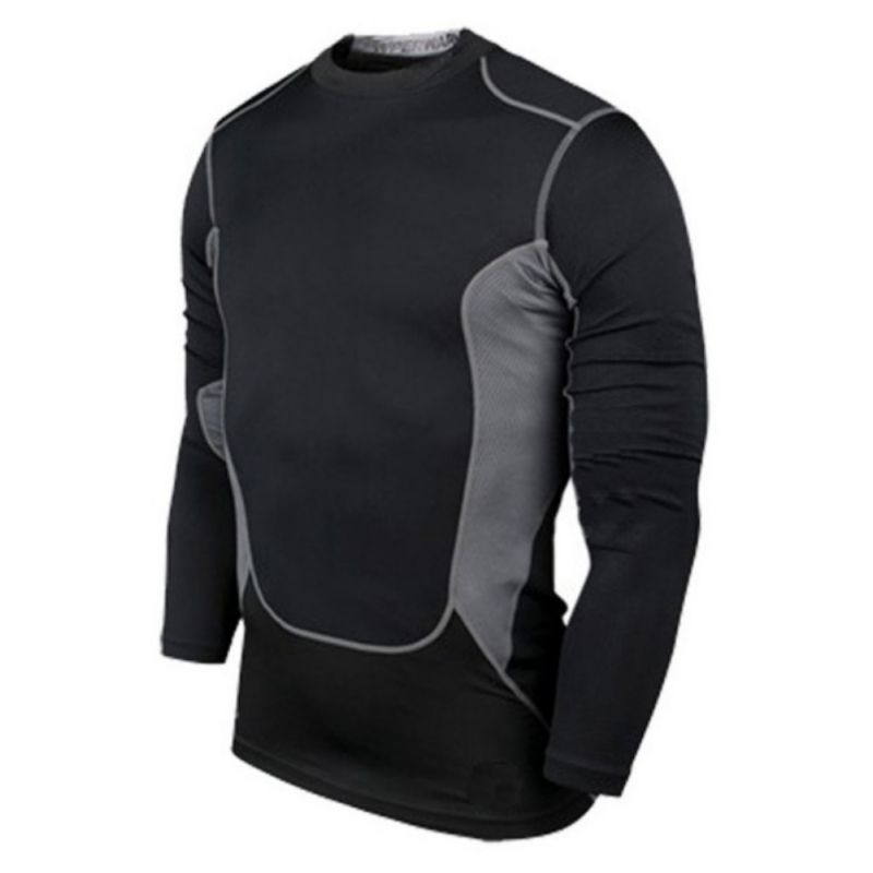 Factory Price! Men Compression Wear Under Pro Base Layer Long Sleeve T-Shirt B53