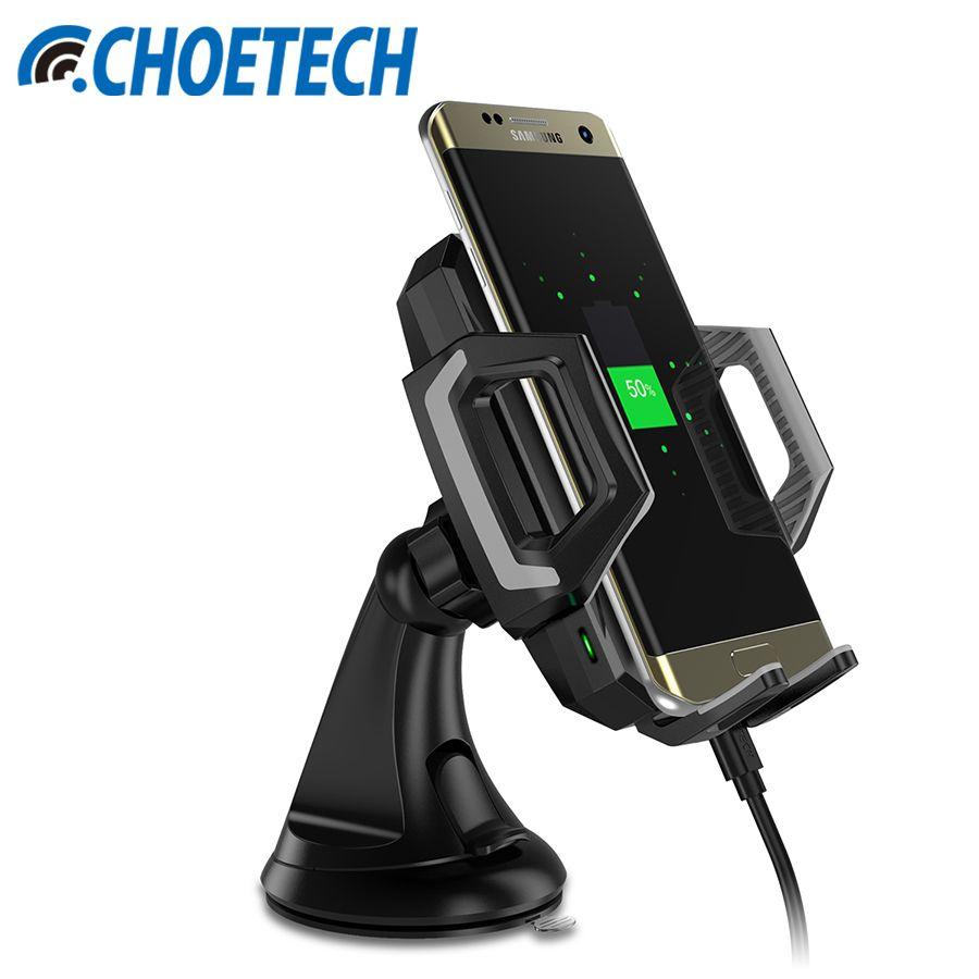 CHOETECH Qi Sans Fil Chargeur pour Samsung Galaxy S8 Plus 10 W sans fil Chargeur De Voiture Dock S7 S6 Rapide Sans Fil De Charge Téléphone Stand