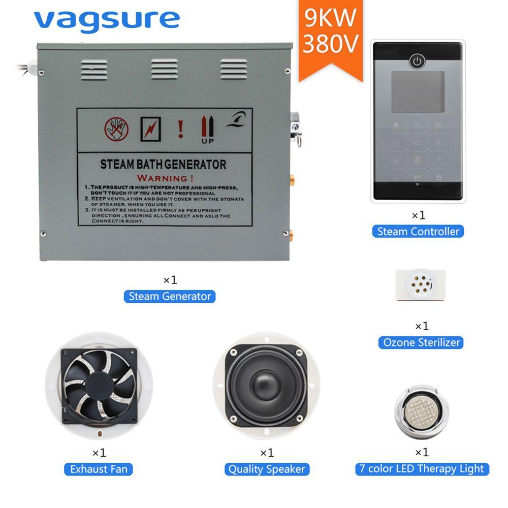 380 V/3 Phasen 9KW Max Temperatur 60 Grad & Dampf Zeit 60 Minuten Einstellung Dusche Dampf Bad Sauna spa Ozon Generator