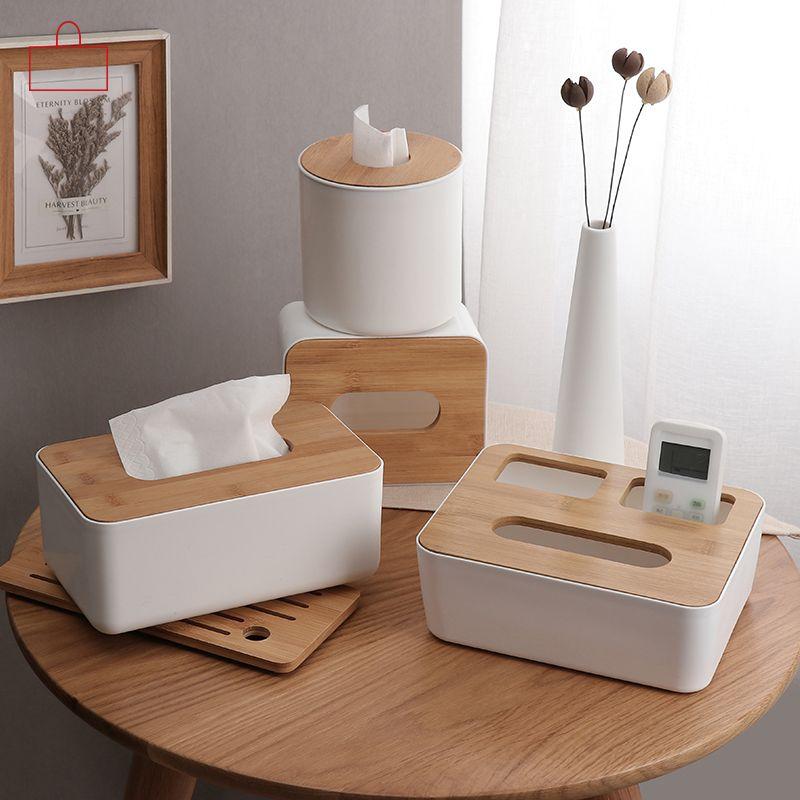 RSCHEF maison cuisine en bois boîte à mouchoirs en plastique porte-serviettes en bois massif étui Simple élégant