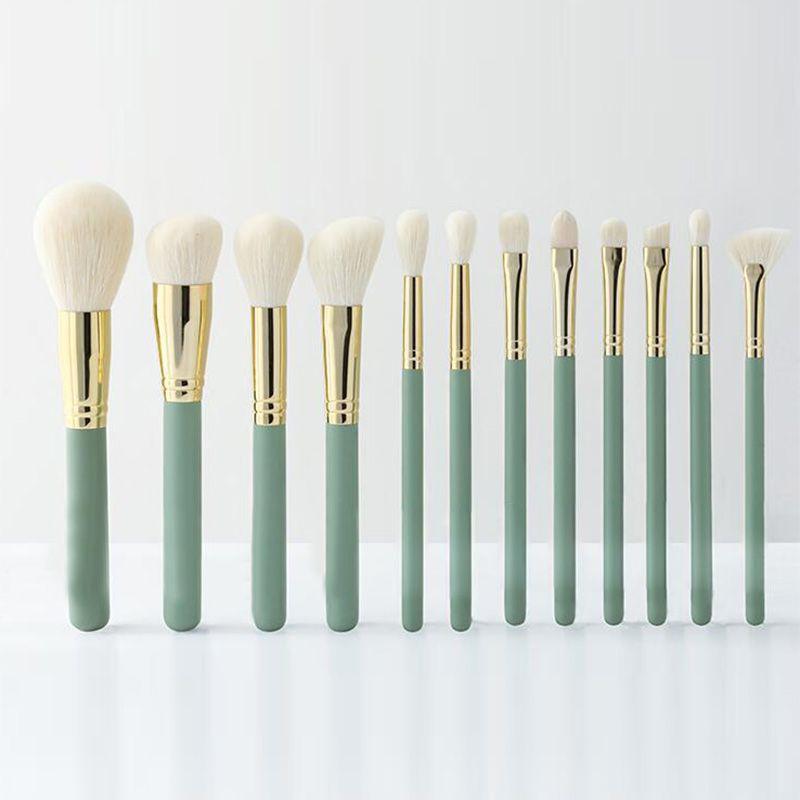Neue 12 stücke Volle Größe Schöne Make-Up Pinsel Set Professional Synthetische Weiche Hohe Qualität Marke Make-Up Pinsel Schwarz