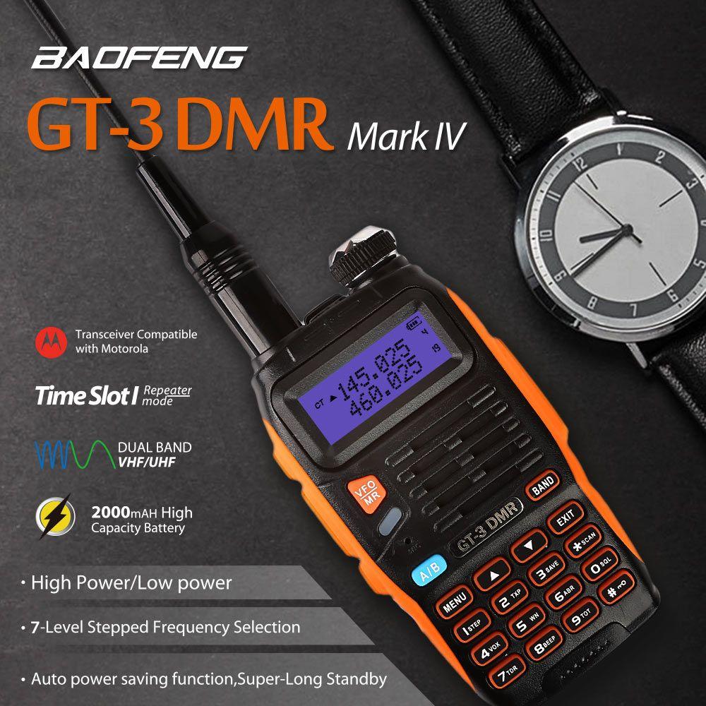 Baofeng GT-3DMR Mark IV Dual Band VHF/UHF Walkie Talkie Zwei 2-wege-radio Schinken Transceiver mit DMR Funktion Zeit Slot 1 Repeater