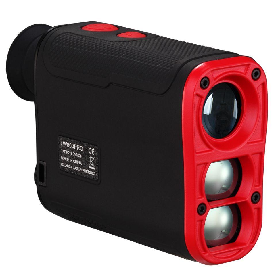 LaserWorks 800 yards Golf Hunting Laser Rangefinder Night Visible Red Readings Rubber Armor IPx4 Waterproof