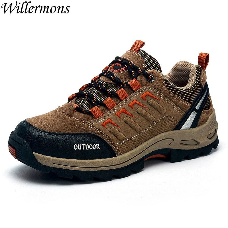 Outdoor Men's Antislip Hiking Boots Sneakers Shoes Breathable Men Trekking Sports Shoes For Camping
