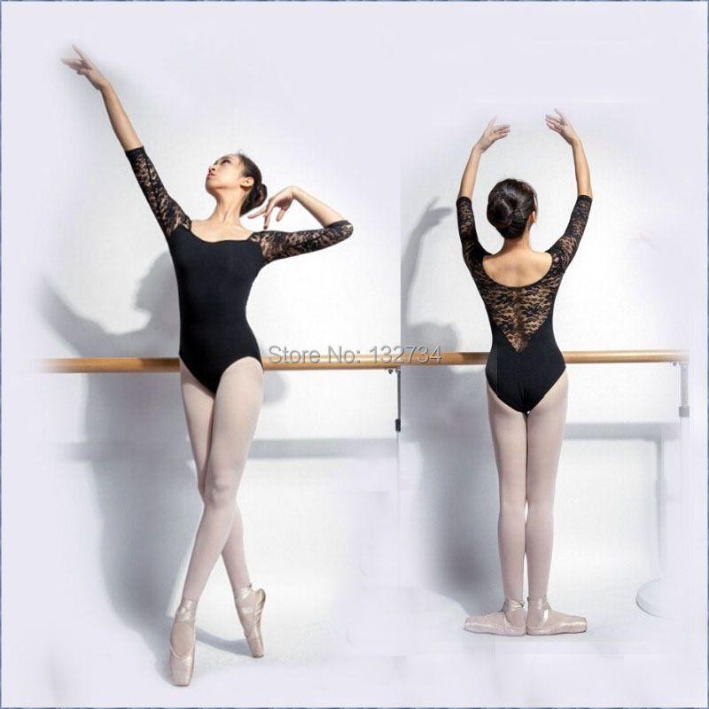 Ballet leotardos para las mujeres puro algodón negro Ballet dancewear adulto danza práctica ropa Gimnasia leotardos