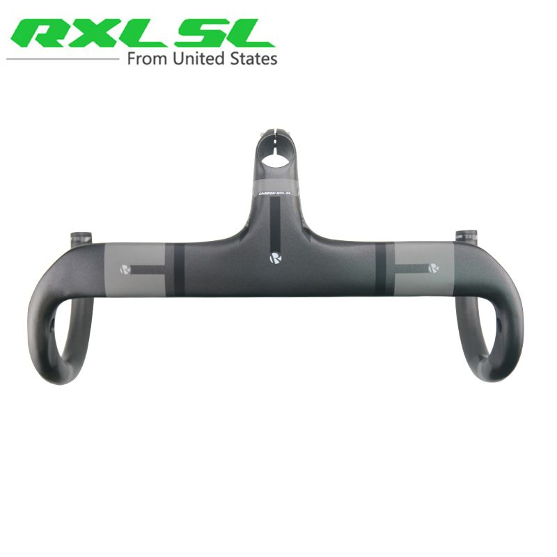 RXL SL Cycling Carbon Handlebar Road Bike 28.6mm UD Matte 400/420/440 Gray Integrated Handlebars With Stem Bicycle Handlebar