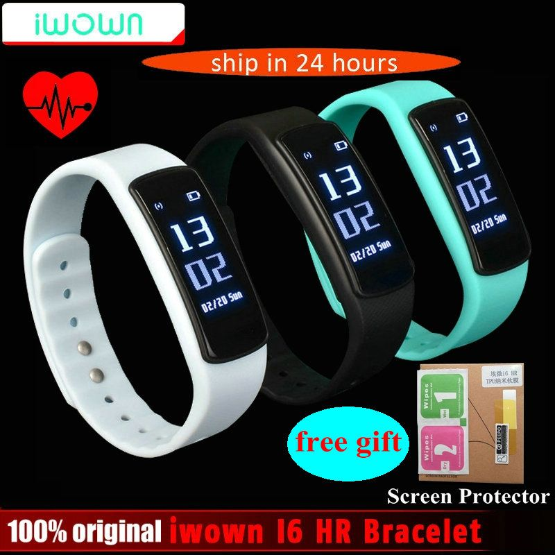 IWOWN I6 HR Smart band Heart Rate Monitor Smart bracelet Sport Wristband Bluetooth 4.0 Smart Band Fitness Tracker VS Mi Band 1S