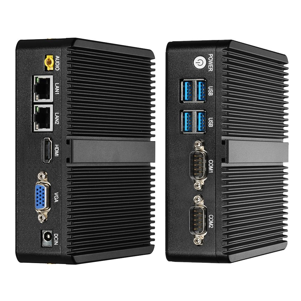Mini PC Windows 10 Celeron 3755 J1800 J1900 Pentium 3805U Mini Ordinateur Double Gigabit Ethernet 2x RS232 Ports 4x USB pfSense