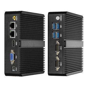 Mini PC Windows 10 Celeron 3755 J1800 J1900 Pentium 3805U Mini Ordinateur Double Gigabit Ethernet 2x RS232 Ports 4x USB pfSense
