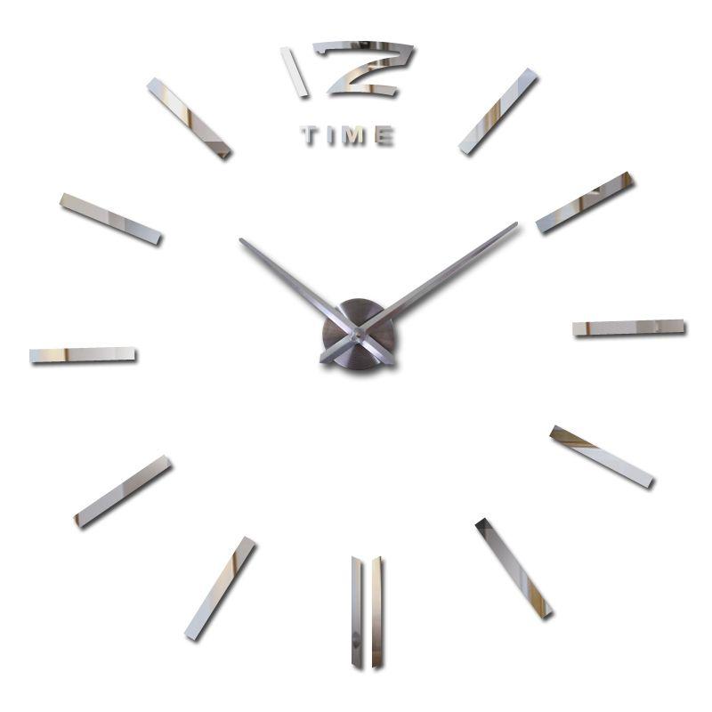 Offre spéciale 3d grand acrylique miroir horloge murale bref diy quartz montre encore vie horloges décoration de la maison salon autocollants