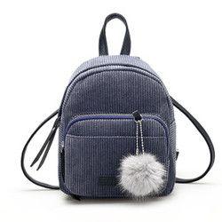 Women Corduroy Backpacks Small Fox Backpacks Mini Shoulder Backpack Waterproof Backpack Mini Rucksack Drop Shipper Daypack #21
