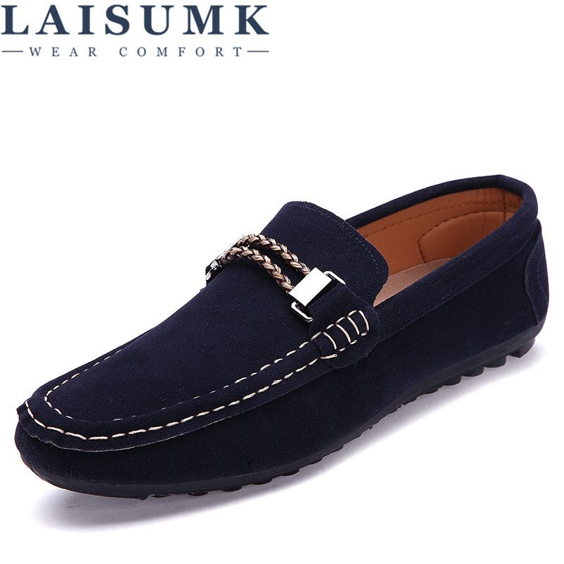 2018 LAISUMK Men Fashion Sneakers Slip-on Footwear Size 39-44 Hot Sale Breathable Mesh <font><b>Upper</b></font> Man Casual Shoes