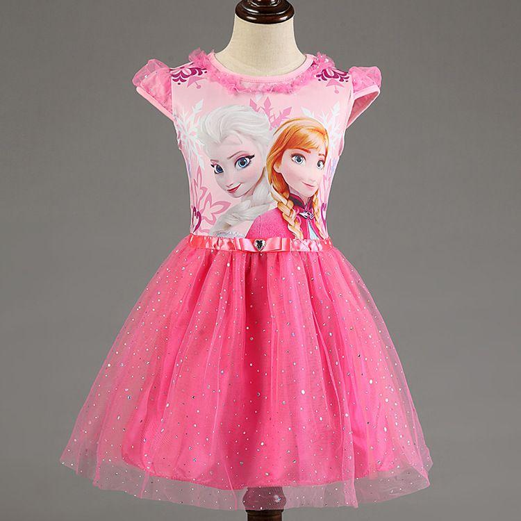 Nouveau Elsa Anna filles robe Cosplay fête enfant robes princesse enfants vêtements bébé enfants Vestidos enfant en bas âge fille robe