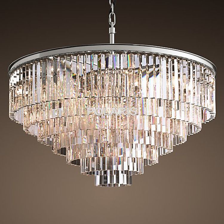 Retro Vintage Kristall Kronleuchter Licht Fxiture Kristall Glas Prisma Kronleuchter Beleuchtung