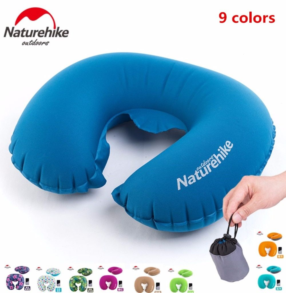 NatureHike Fabrik Store Tragbares U-form Aufblasbare Kissen Schlafen Reisen Aufblasbares Kissen Neck Schutz Flugzeug Kissen