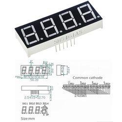0.56inch 4bit Common Cathode Digital Tube Red LED Digit Display 7 Segment 0.5inch 0.5 0.56 inch 0.56'' 0.56in. 4 Four bit