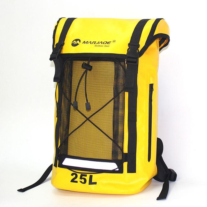 25L Mountain Climbing PVC Waterproof Travel Dry Bag Men Back Pack Lady Backpack Drifting River Trekking Bag