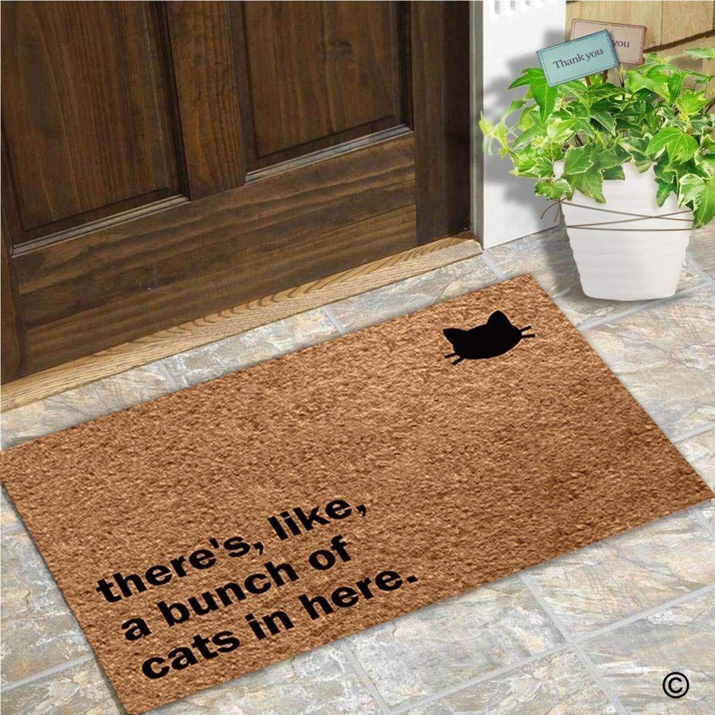 Funny Door Mat There's, Like, A Bunch Of Cats In Here Doormat Outdoor Indoor MatRubber Back 15.7x23.6 Inch