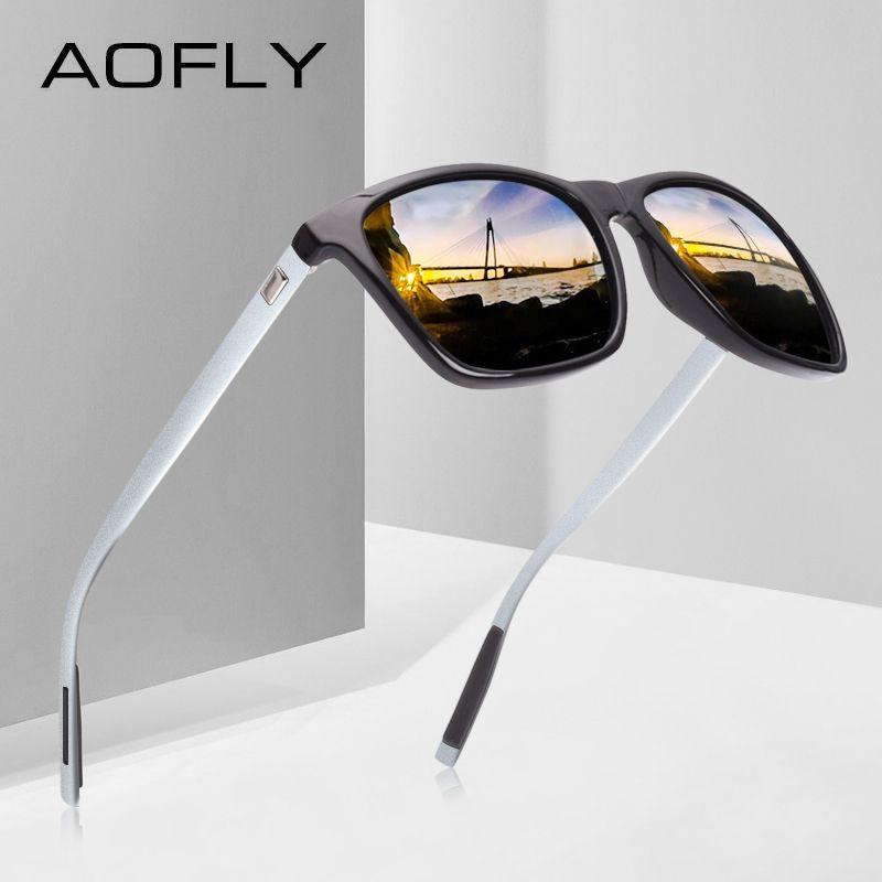 AOFLY Classique Polarisées lunettes de Soleil style de mode lunettes de soleil pour Hommes/Femmes Vintage Marque Designer oculos de sol masculino UV400