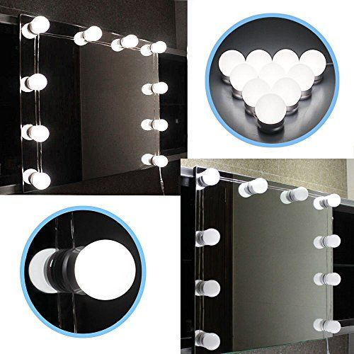 DGHGF Hollywood Style,LED Vanity Mirror Lights Kit with Dimmable Light <font><b>Bulbs</b></font>,Lighting Fixture Strip for Makeup Vanity Table Set