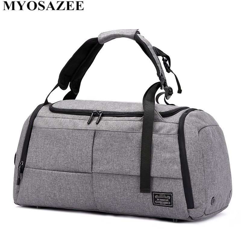 MYOSAZEE Brand High Capacity Travel Bag Men Leisure Business Multifunction Rusksack Male Fashion Backpack Casual Handbag Women