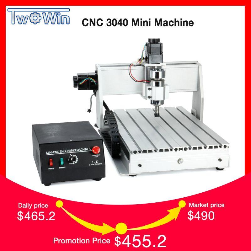 300 watt Drei-achse Themen Schraube CNC Router Engraver Gravur Fräsen Bohren Schneiden Maschine CNC 3040 T-D