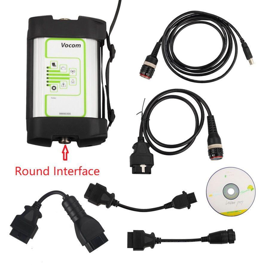 2019 für Volvo Vcads 88890300 Vocom Runde Interface für Volvo/Renault/UD/Mack Lkw Diagnose Heavy Duty diagnose werkzeuge