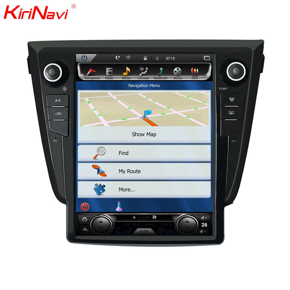 KiriNavi Vertical Screen Tesla Style Android 12.1 Inch Car Radio For Nissan X trail Gps Navigation Can't Support 360Camera