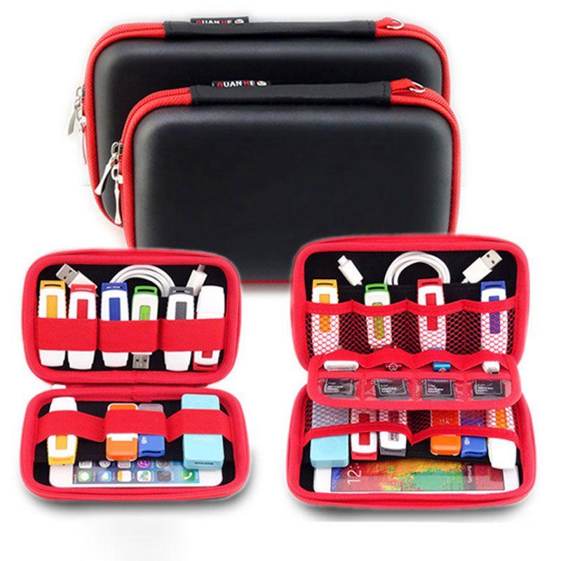 Sac de rangement Portable pour Gadgets électroniques pour disque dur, téléphone, câble USB, disque U, carte SD, boîtier organisateur d'accessoires de voyage pour batterie externe
