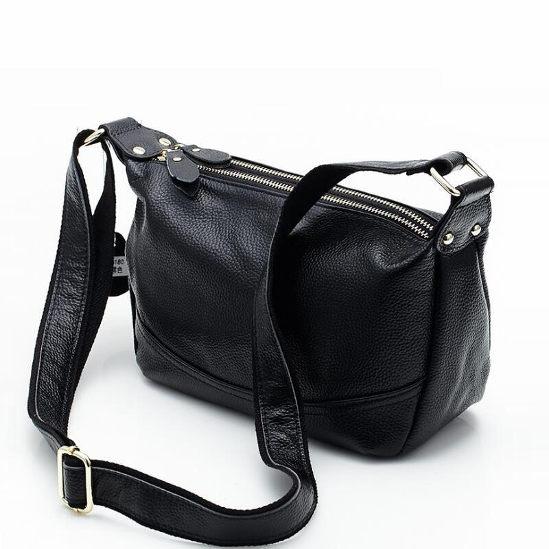 100% Cowhide Women Messenger Bags Genuine Leather Handbag Women Shoulder Bags Designer Brand Women Bag High Quality Female tote