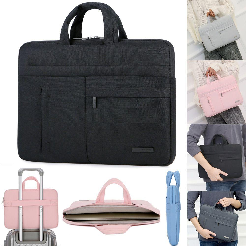 Nylon Laptop Sleeve Case Sac À Bandoulière Pour Macbook Air Pro Asus Dell HP Acer 13 14 15.4 15.6 Portable Portable sac à main 13.3