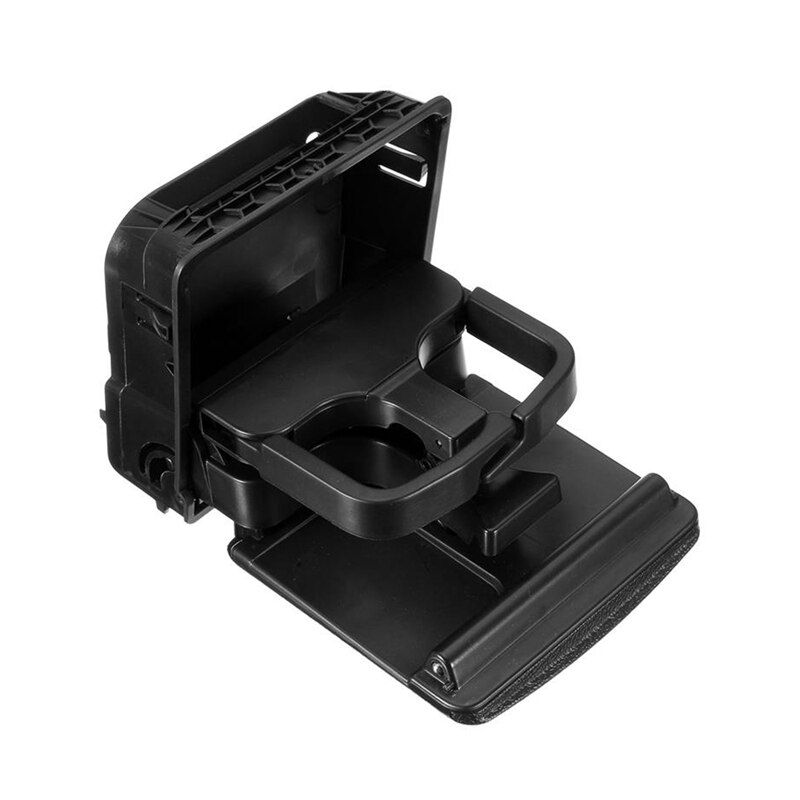 2018 Black Central Armrest Rear Cup Holder For VW Jetta 5 Golf GTI 5 6 Rabbit EOS